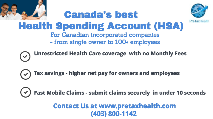 Canada's best Health Spending Account (HSA)